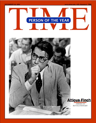Atticus finch for time magazine person of the year